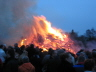 Osterfeuer in Ohlstedt